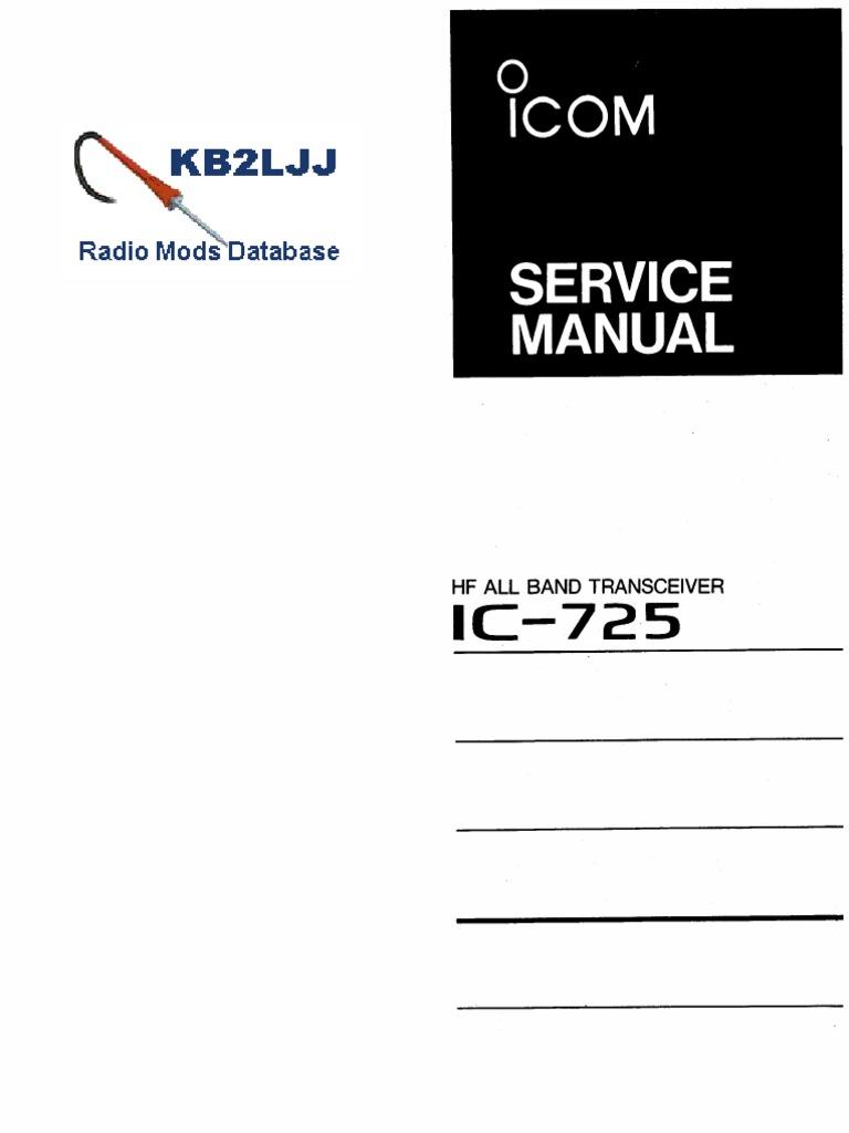 icom ic 725 service manual rh scribd com Liebert iCOM Service Manual Icom VHF Radios Manuals