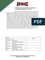 Nomex Topstick Reduced Sampling Justification 4-17-13