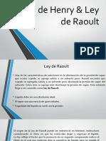 Ley de Henry & Ley de Raoult