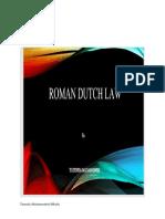 Roman Ducth Law