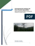 Caracterización Biofísica de Finca Panamá
