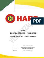 Boletim Tecnico Fixadores Linha Drywall e Steel Frame