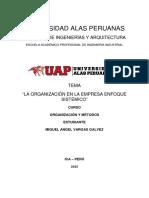 La Organización en La Empresa Enfoque Sistematico