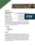 Método hermenéutico dialéctico