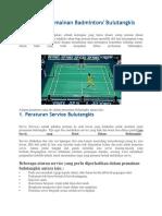 Peraturan Permainan Badminton