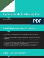 Evaluación de la intervención