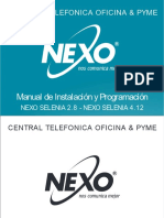 Manual de Inst y Progr NEXO SELENIA 2.8