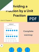 4.4a Dividing a Fraction by a Unit Fraction