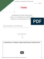 Aprende Ritmo Musical con +14 Ejemplos [Tresillo, Puntillo, Staccato y Más]