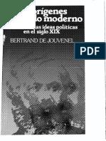 Los orígenes del Estado moderno. Historia de las ideas políticas en el siglo XIX - Bertrand de Jouvenel