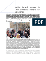 La Ocupación Israelí Agrava La Situación de Violencia Contra Las Mujeres Palestinas