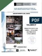 elaboracion del estudio definitivo para la construccion del nuevo puente pisac y accesos vol.7 pr.pdf