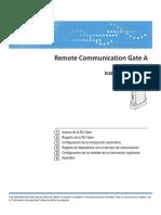 Inst. de Uso Remote Communication Gate A
