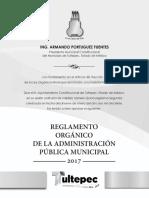 Reglamento Orgánico de tultepec