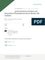 Understanding the Intentions of Others Re-Enactmen