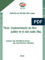 Implementación de Filtro Pulidor en El Tratamiento de Agua