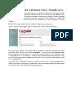Tutorial de Instalación de Gfortran en Windows 10 Usando Cygwin