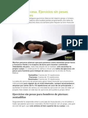 De pesas sin rutina pdf ejercicios