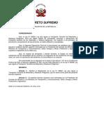 Reglamento Ley Transporte Material y Residuos Peligrosos
