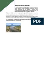 Causas de La Contaminación Del Lago de Atitlán