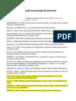 Bibliografía de Psicología Del Desarrollo