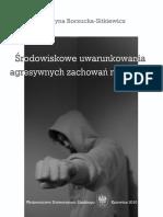 Borzucka-Sitkiewicz, Środowiskowe Uwarunkowania Agresywnych Zachowań Młodzieży