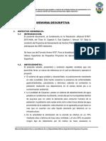 DISPONIBILIDAD HIDRICA CAYARACC