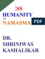 Stress Humanity and Namasmaran Dr. Shriniwas Janardan Kashalikar