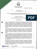 Partido Alianza (Panamá) Resolución No. 03 de 28 de Febrero de 2018
