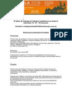 Instrucciones Presentación Ponencias y Paneles