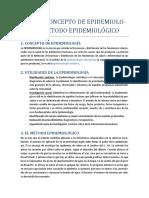 Tema 5. Concepto de epidemiología. El método epidemiológico