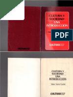 CulturaSociedadIntroduccionGarciaCanclini1985