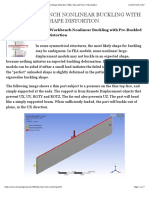 ANSYS Workbench Nonlinear Buckling with Pre-Buckled Shape Distortion | FEA | Tips and Tricks | Newsletters