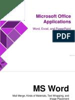 03 - Microsoft Office Applications