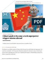China Pushes to Become Tech Superpower