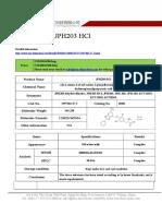 Datasheet of JPH203 HCl|CAS 1597402-27-1|sun-shinechem.com