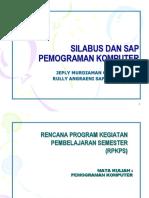 SILABUS & SAP - Pemograman Komputer