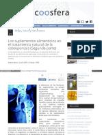 Los Suplementos Alimenticios en El Tratam Osteopororsis