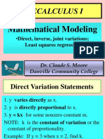 1.10 Mathematical Modeling and Variation Wo Regression