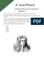 Mechanics Independent Study Booklet Part D