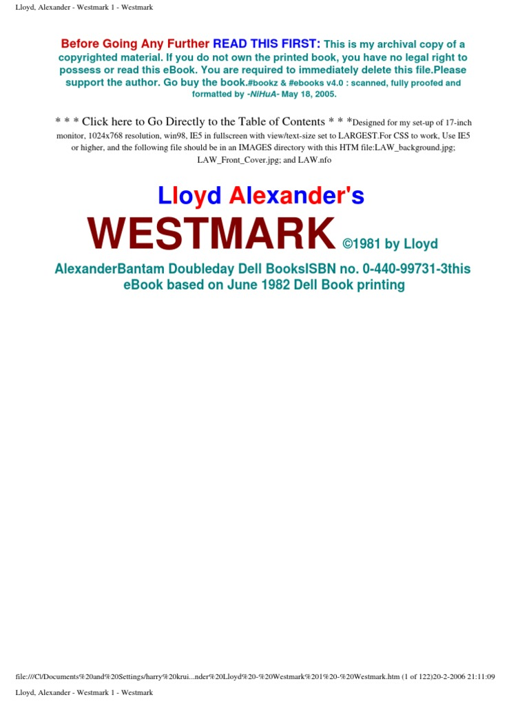 Alexander lloyd westmark 1 westmark fandeluxe Choice Image