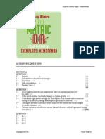 Physical Sciences Paper 1 Memorandum