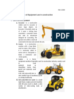Tools and Equiments for Construction