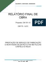 Relatório final de obra