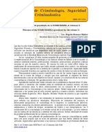 Bienvenida del presidente de la SOMECRIMNL al volumen X