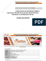 Guión Metodológico Taller Especialistas UGEL - 2018