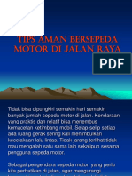 Tips Aman Bersepeda Motor