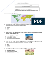 PRUEBA DE DIAGNÓSTICO 4° Historia 2017