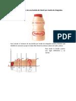 Calcular Volumen de Una Botella de Yakult Por Medio de Integrales