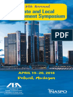 Brochure, 13th Annual State and Local Procurement Symposium (Detroit, April 19-20, 2018)